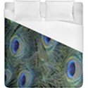 Peacock Feathers Blue Bird Nature Duvet Cover (King Size) View1