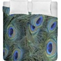 Peacock Feathers Blue Bird Nature Duvet Cover Double Side (King Size) View1