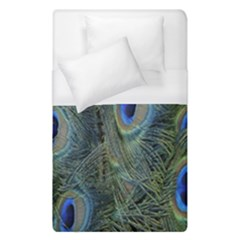 Peacock Feathers Blue Bird Nature Duvet Cover (single Size)