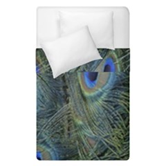 Peacock Feathers Blue Bird Nature Duvet Cover Double Side (single Size)