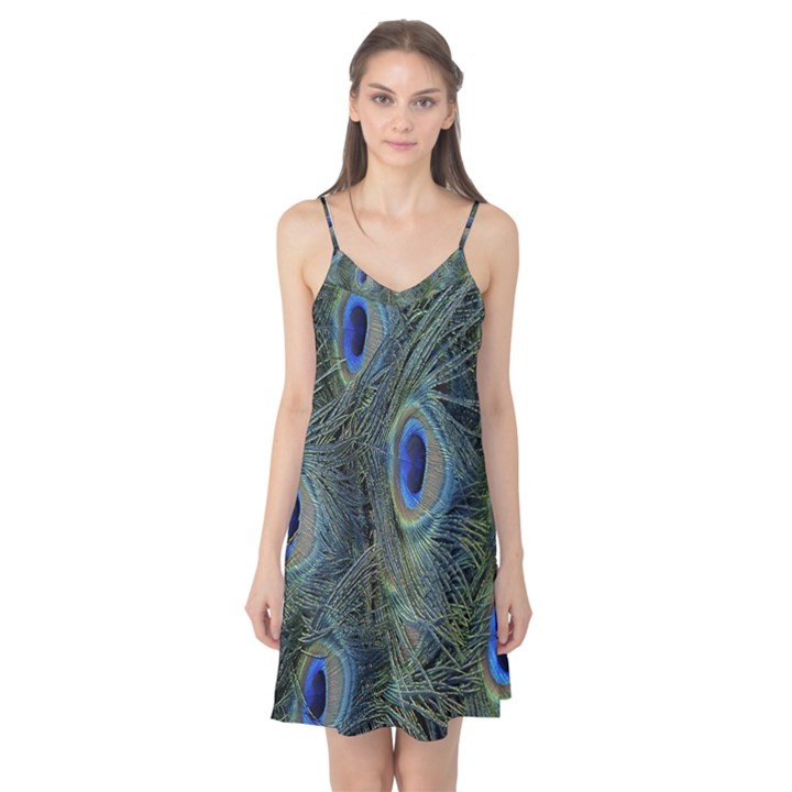 Peacock Feathers Blue Bird Nature Camis Nightgown