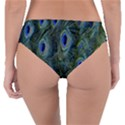Peacock Feathers Blue Bird Nature Reversible Classic Bikini Bottoms View2