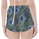 Peacock Feathers Blue Bird Nature High-Waisted Bikini Bottoms View2