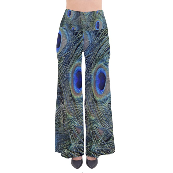 Peacock Feathers Blue Bird Nature Pants