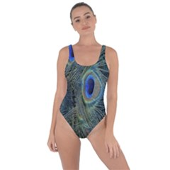 Peacock Feathers Blue Bird Nature Bring Sexy Back Swimsuit
