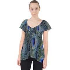 Peacock Feathers Blue Bird Nature Dolly Top