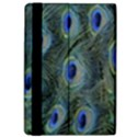 Peacock Feathers Blue Bird Nature Apple iPad Pro 12.9   Flip Case View4