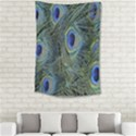Peacock Feathers Blue Bird Nature Small Tapestry View2