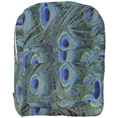 Peacock Feathers Blue Bird Nature Full Print Backpack