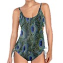 Peacock Feathers Blue Bird Nature Tankini Set View1