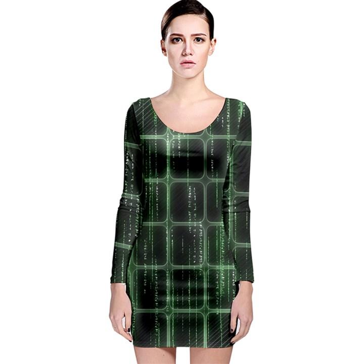 Matrix Earth Global International Long Sleeve Bodycon Dress