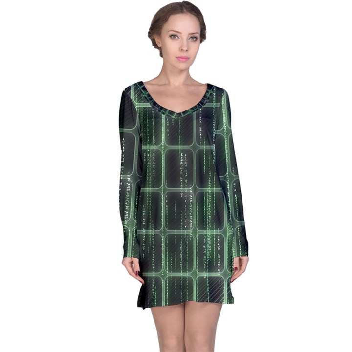 Matrix Earth Global International Long Sleeve Nightdress