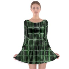 Matrix Earth Global International Long Sleeve Skater Dress