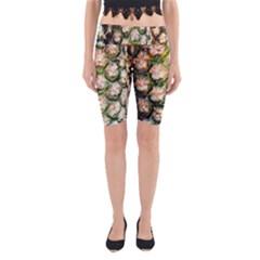 Pineapple Texture Macro Pattern Yoga Cropped Leggings