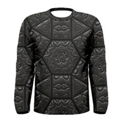 Tile Emboss Luxury Artwork Depth Men s Long Sleeve Tee