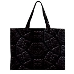 Tile Emboss Luxury Artwork Depth Zipper Mini Tote Bag
