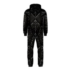 Tile Emboss Luxury Artwork Depth Hooded Jumpsuit (kids)