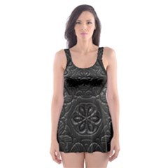 Tile Emboss Luxury Artwork Depth Skater Dress Swimsuit