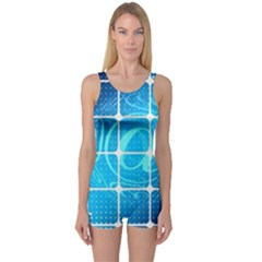 Tile Square Mail Email E Mail At One Piece Boyleg Swimsuit