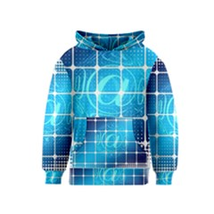 Tile Square Mail Email E Mail At Kids  Pullover Hoodie