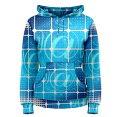 Tile Square Mail Email E Mail At Women s Pullover Hoodie