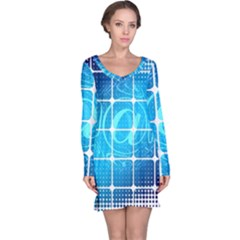 Tile Square Mail Email E Mail At Long Sleeve Nightdress