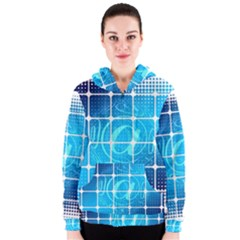 Tile Square Mail Email E Mail At Women s Zipper Hoodie