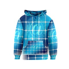 Tile Square Mail Email E Mail At Kids  Zipper Hoodie