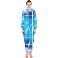 Tile Square Mail Email E Mail At Hooded Jumpsuit (ladies)
