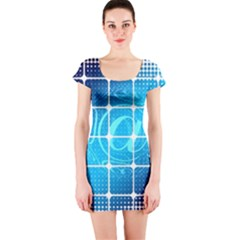 Tile Square Mail Email E Mail At Short Sleeve Bodycon Dress