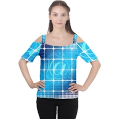 Tile Square Mail Email E Mail At Cutout Shoulder Tee