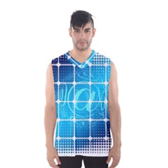 Tile Square Mail Email E Mail At Men s Basketball Tank Top