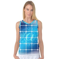 Tile Square Mail Email E Mail At Women s Basketball Tank Top