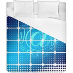 Tile Square Mail Email E Mail At Duvet Cover (california King Size)