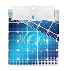 Tile Square Mail Email E Mail At Duvet Cover Double Side (full/ Double Size)