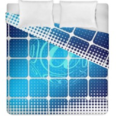 Tile Square Mail Email E Mail At Duvet Cover Double Side (king Size)