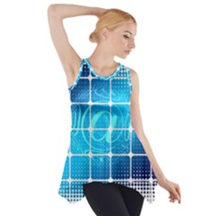 Tile Square Mail Email E Mail At Side Drop Tank Tunic