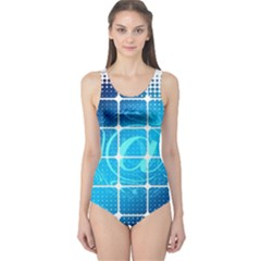 Tile Square Mail Email E Mail At One Piece Swimsuit