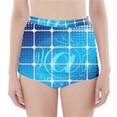 Tile Square Mail Email E Mail At High Waisted Bikini Bottoms