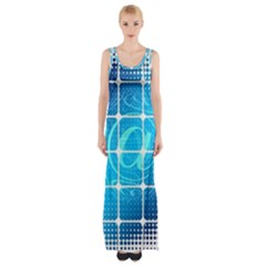 Tile Square Mail Email E Mail At Maxi Thigh Split Dress