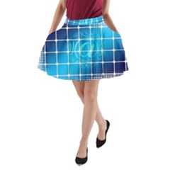 Tile Square Mail Email E Mail At A Line Pocket Skirt