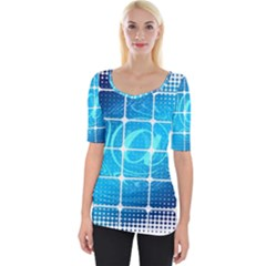 Tile Square Mail Email E Mail At Wide Neckline Tee