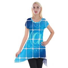 Tile Square Mail Email E Mail At Short Sleeve Side Drop Tunic