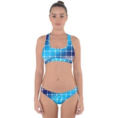 Tile Square Mail Email E Mail At Cross Back Hipster Bikini Set