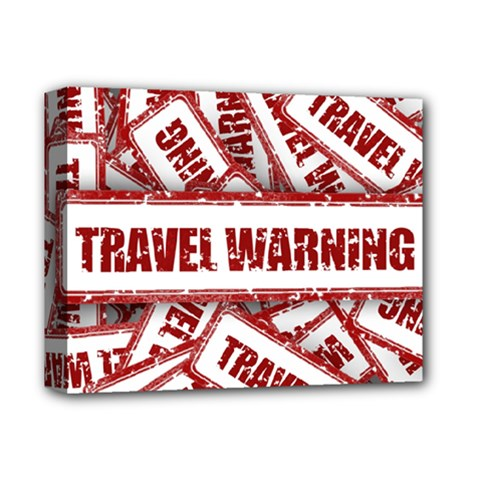 Travel Warning Shield Stamp Deluxe Canvas 14  X 11