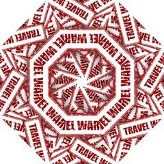 Travel Warning Shield Stamp Golf Umbrellas