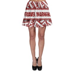 Travel Warning Shield Stamp Skater Skirt