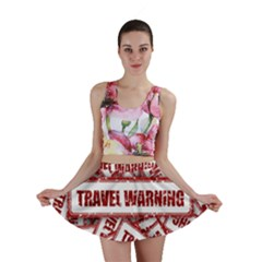 Travel Warning Shield Stamp Mini Skirt
