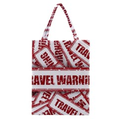 Travel Warning Shield Stamp Classic Tote Bag