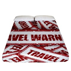 Travel Warning Shield Stamp Fitted Sheet (california King Size)
